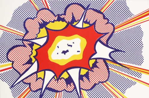 ROY LICHTENSTEIN - EXPLOSION - 100 post