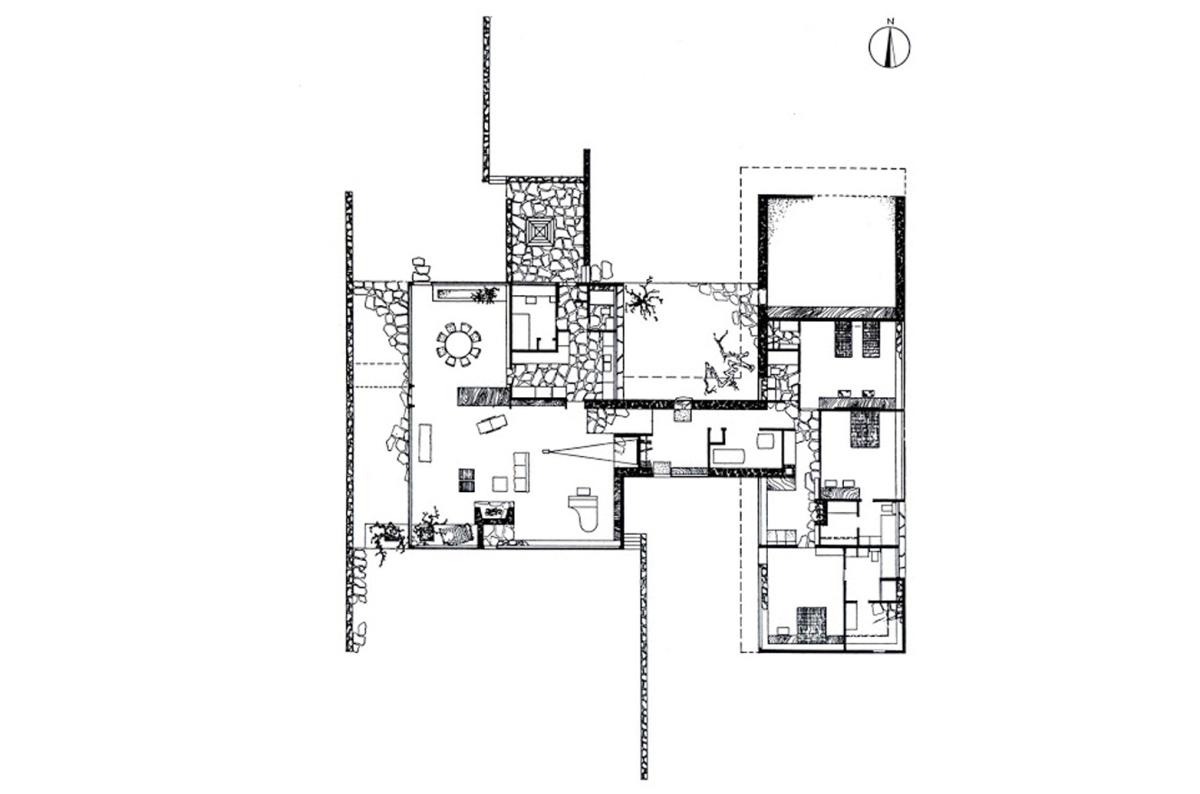 Planta bi nuclear caj n de sastre de arquitecto for Robinson house plans