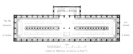 HENRI LABROUSTE - Bibliothèque Sainte-Geneviève PLANTA