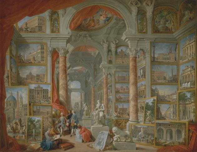 Panini_Galleria di quadri con viste dell'antica Roma 1759