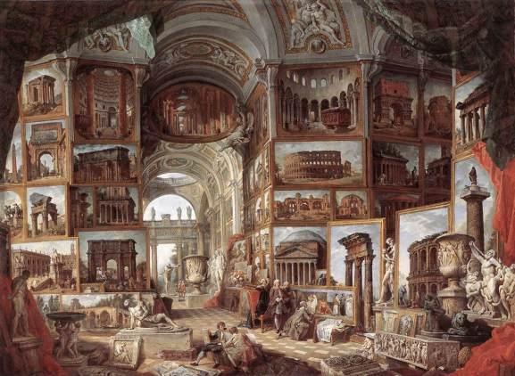 Pannini_Galleria di quadri con viste dell'antica Roma 1758