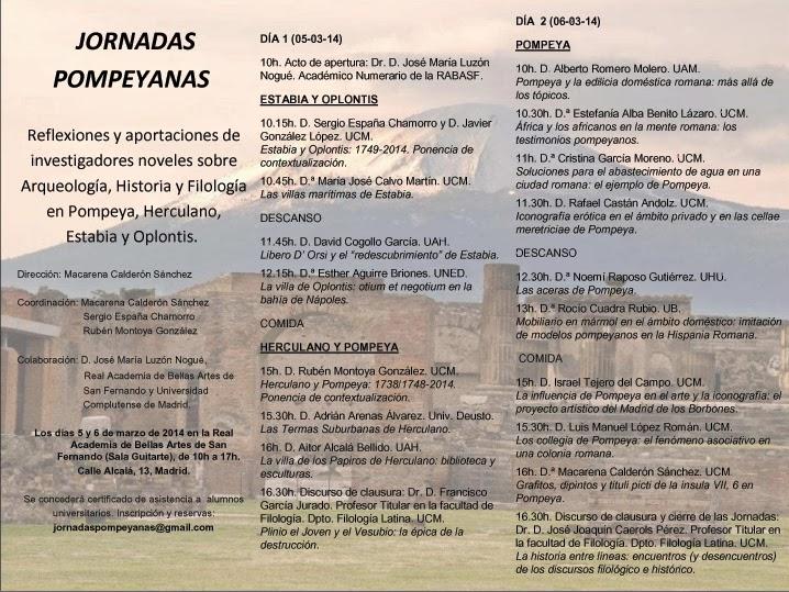 programa jornadas pompeyanas