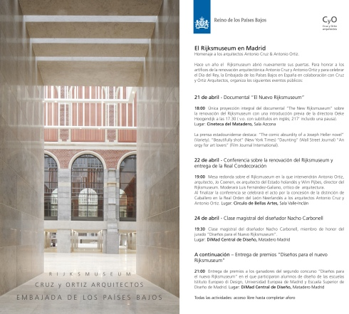FLYER ACTOS RIJKSMUSUEM EN MADRID