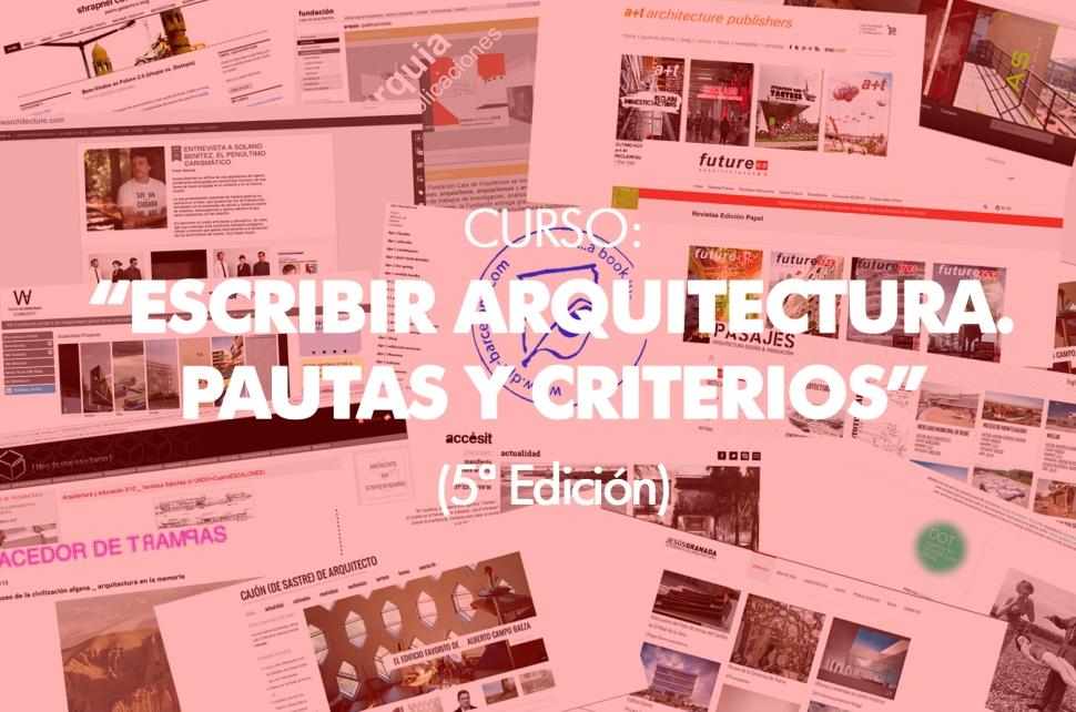 CURSO ESCRIBIR ARQUITECTURA 5 EDICION