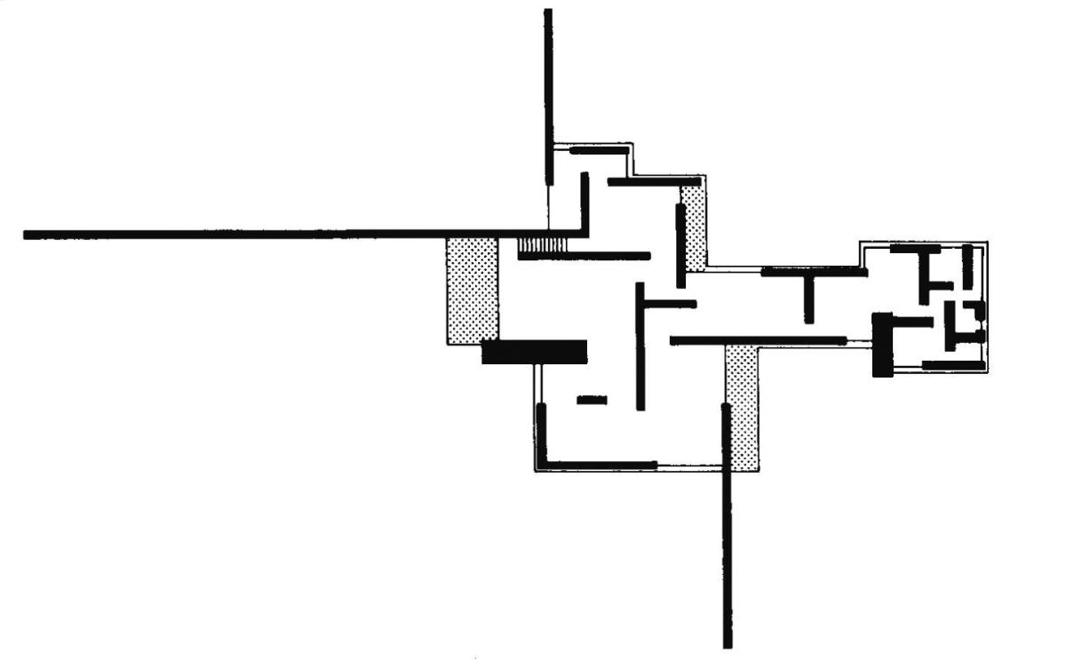 Planta casa de campo de ladrillo mies van der rohe for Casa minimalista de mies van der rohe
