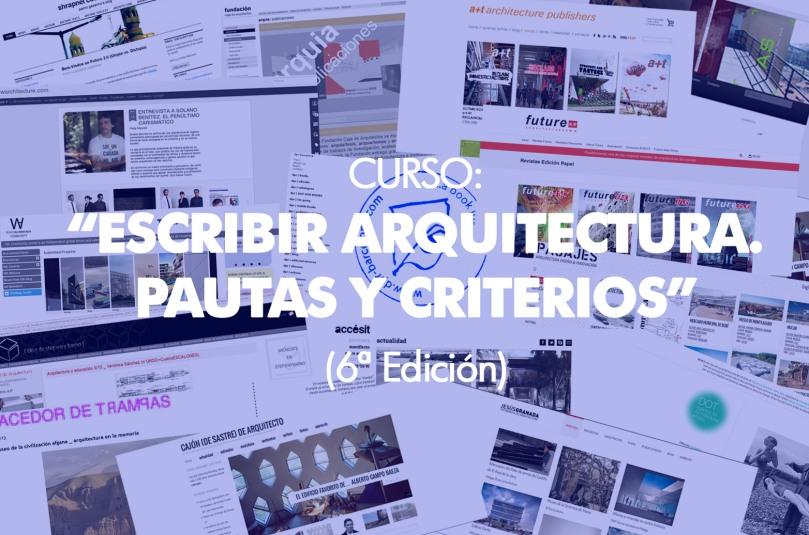 CURSO ESCRIBIR ARQUITECTURA 6 EDICION