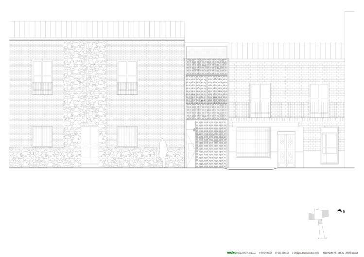 Alzado casa en piedrabuena muka arquitectura caj n - Alzado arquitectura ...